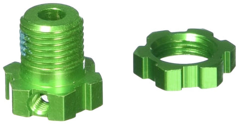Traxxas 5353G 17mm Green-Anodized Aluminum Wheels Hubs and Nuts (set of 4)