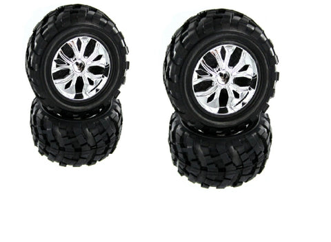REDCAT CALDERA 10E SET OF (4) TIRES AND WHEELS FOR GREAT PERFORMANCE