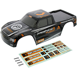 HPI 1/10 Jumpshot MT Fuzion 2WD BLACK & ORANGE BODY SHELL w/ DECAL SHEET