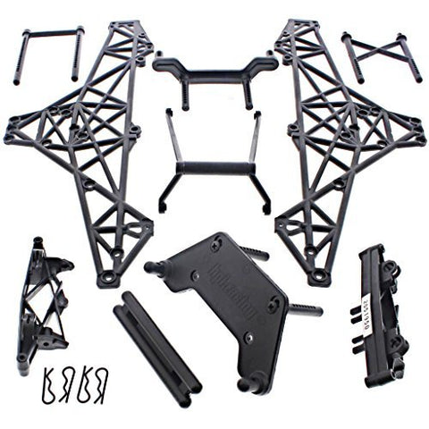 HPI 1/10 Crawler King CHASSIS ROLL CAGE, SHOCK TOWERS, BUMPER, BODY MOUNT POST by HPI Racing