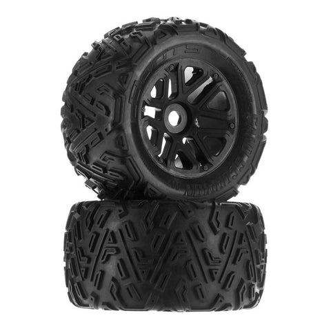 Arrma Sand Scorpion MT 6S Tire Set Glued Black: (2)