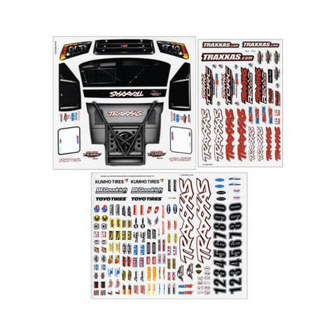 Qiyun 6813 Decal Sheet Slash 4x4 TRAC6813 Traxxas