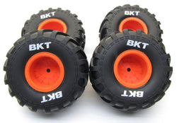 AXIAL MONSTER TIRES FOR THE SMT10 MAX - D, OR THE GRAVE DIGGER, OR ANY TRUCK YOU WANT THESE GREAT TIRES AND WHEELS FOR.