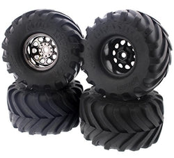 HPI 1/12 Wheely King 4x4 MUD THRASHER TIRES & CLASSIC KING WHEELS 12mm Hex by HPI Racing