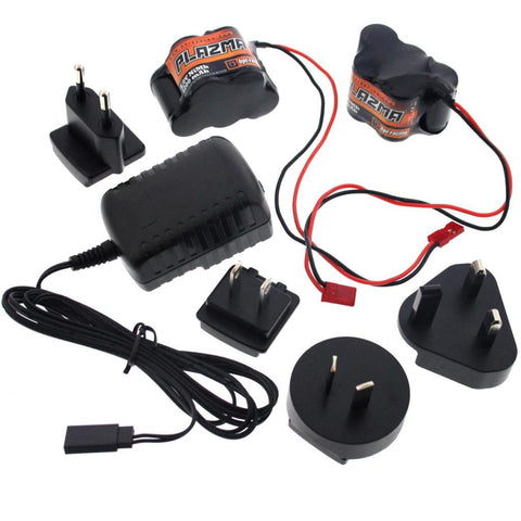 HPI 1/8 Savage XL Octane 2 Two 1200mAh NiMH 6V BATTERY, & CHARGER 5 Cell X