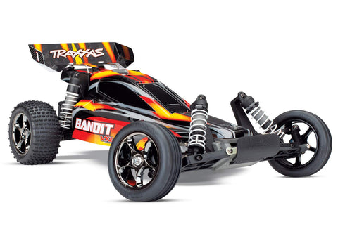 Traxxas 24076-4 Bandit VXL: Brushless 1/10 Scale 2WD RC Off-Road Buggy, Red