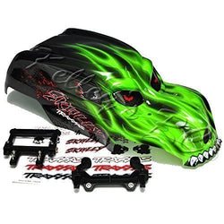 Traxxas Green Skully Body Bundle with Decals and Mounts for Stampede