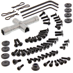 HPI 1/10 RS4 Sport 3 4WD Drift 70 PIECE SCREW & TOOL KIT Body Clips Shock Piston