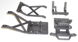 Traxxas Stampede 2wd XL-5 VXL CONVERSION Kit Upgrade BLACK BUMPER & SKID PLATES