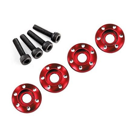 Alum Wheel Nut Washer, Red 3x12mm 4ea : Teton