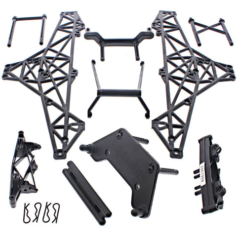 HPI 1/10 Crawler King * CHASSIS ROLL CAGE, SHOCK TOWERS, BUMPER, BODY MOUNT POST