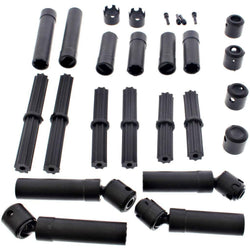 AXIAL WB8 CH CENTER DRIVESHAFTS & COUPLERS FOR THE AXIAL WRAITH SPAWN, YETI TROPHY, YETI 4WD, BOMBER, GRAVE DIGGER, JEEP CHEROKEE, RR10, AX31114 , AX31148