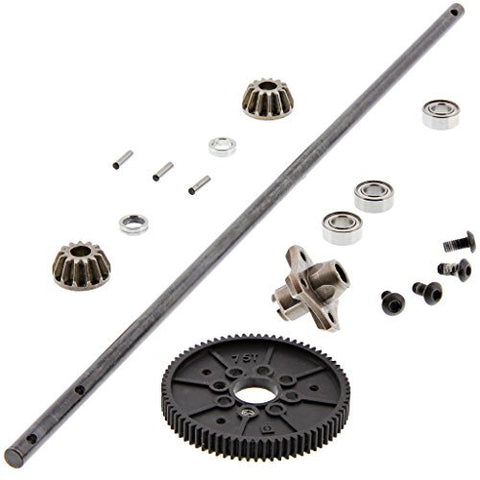 HPI 1/10 RS4 Sport 3 Drift CENTER DRIVE SHAFT, 75T SPUR & 13T BEVEL GEARS Hub by HPI Racing