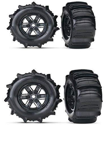 TRAXXAS X-MAXX PADDLE WHEELS THAT GIVE YOU THE ABILITY TO GO ACROSS WATER WITH YOUR TRUCK. EVERYONE HAS SEEN THE VIDEO AND THESE TIRES AND WHEELS ARE WHAT MAKE IT HAPPEN
