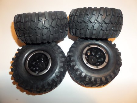 Redcat Everest 1/10 Scale Tires and Rims Set of (4)