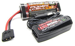 BANDIT VXL BATTERY & 4amp iD CHARGER 3000Mah 8.4V 7-Cell Hump Stampede Traxxas 2407 by Traxxas