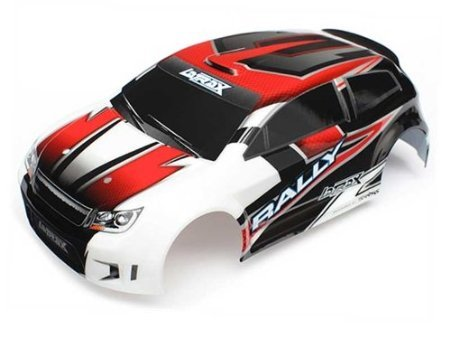 Traxxas 7515 Body LaTrax Rally Red Decals