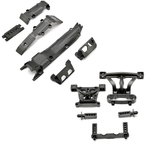 Traxxas 1/16 E-Revo VXL * SKID PLATES SET w/ SERVO GUARDS, PLATE & BODY MOUNTS *
