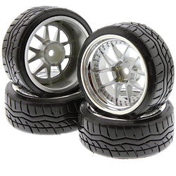 HPI 1/10 RS4 Sport 3 Drift FALKEN AZENIS TIRES, DY CHAMPION 12mm CHROME WHEELS