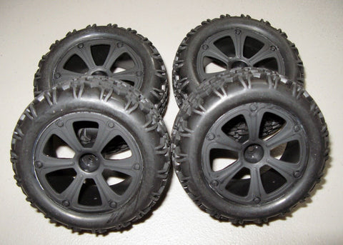 New RedCat Racing Blackout XBE Front and Rear Mounted Tires & Wheels 2 Pair
