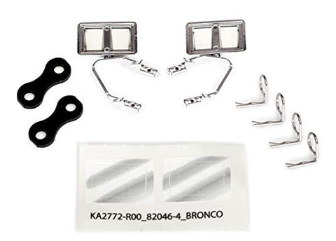 Mirrors, Side, Chrome (Left & Right)/ retainers (2)/ Body Clips (4)