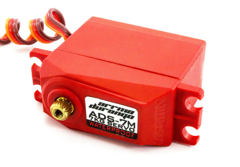 Arrma ADS-7 V2 7KG Waterproof Servo (Red) Futaba Style Connector AR390070
