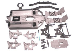 TRAXXAS E-MAXX BRUSHLESS CHASSIS, SKID PLATES, AND BODY PARTS, ALMOST HALF A TRUCK FOR A GREAT CONVERSION