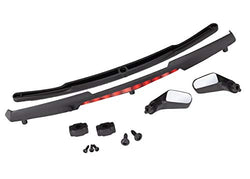 TRAXXAX 8388 Mirrors, Side, Black (Left & Right)/ Mirror retainers (2)/ Spoiler,
