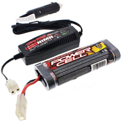 Traxxas 1/10 Jato 3.3 7.2V NiMH 1800 mAh BATTERY & 2 AMP CAR CHARGER 6 Cell