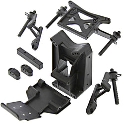 HPI 1/10 Jumpshot ST FRONT & REAR SHOCK TOWERS, BODY POSTS & SKID PLATE