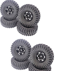 Axial 1/10 SCX10 DEADBOLT- 2 COMPLETE SET OF 4 THAT MEANS (8) MAXXIS TREPADOR TIRES & WALKER EVANS 12MM WHEELS BY AXIAL