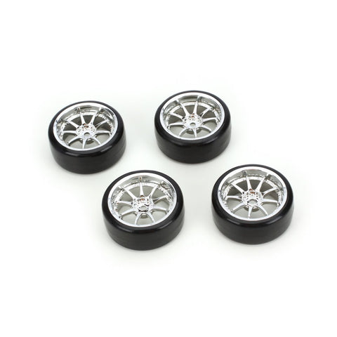 Integy Type5 Complete Wheel/Tire Set(4): Drift