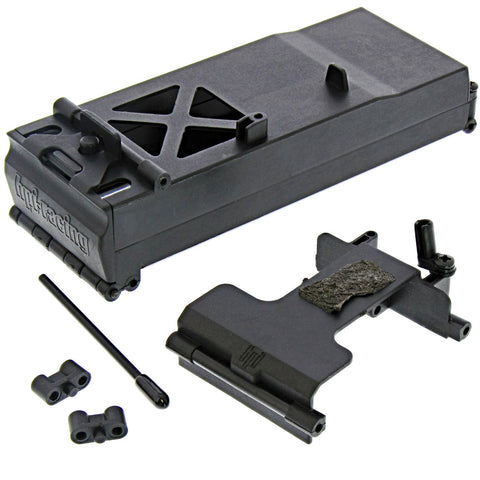 HPI 1/10 Crawler King BATTERY BOX & SERVO MOUNT Tray, Holder, Antenna Wheely