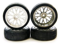 Traxxas Nitro 4-Tec 3.3 * PROTRAX CHROME WHEELS & TIRE SLICKS * 12mm Hex Road