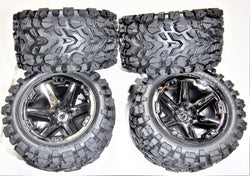 Traxxas Rustler 4X4 VXL Front and Rear Tires and Wheels (4)