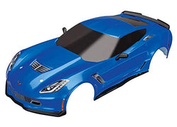 Traxxas 8386X - Body, Chevrolet Corvette Z06, Blue (Painted, Decals Applied)