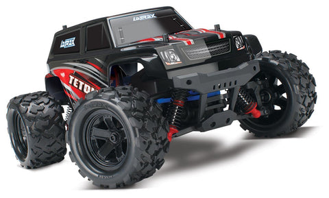 Traxxas Latrax Teton: 1/18 Scale 4wd Electric Monster Truck with TQ 2.4 GHz Radio System, Red