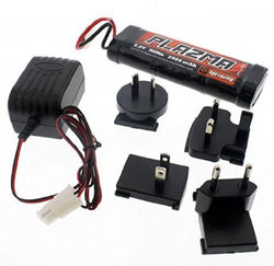HPI 1/12 Wheely King 4x4 * PLAZMA 7.2V 2000mAh NiMH BATTERY & CHARGER * 6 Cell