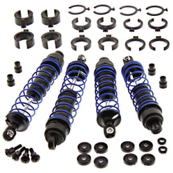 Traxxas 1/10 Skully 2WD * BLUE FRONT/REAR SHOCKS SPRINGS OIL Body Shaft Craniac