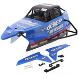 AE Team Associated 1/10 SC10B RS 2WD BLUE BODY, COCKPIT, ROLL CAGE, NERF BARS