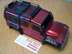 Traxxas TRX-4 Crawler Land Rover Body w Roll Cage Roof Rack Inner Fenders and Spare Tire, Hard To Get 1/10 Body