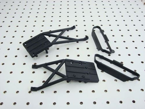 TRAXXAS RAPTOR SLASH 2WD FRONT & REAR SKID PLATES & NERF BARS 5823 5837