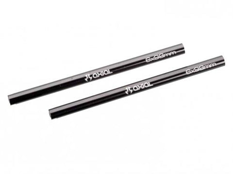 Axial Racing #AX30518 Threaded Aluminum Pipe 6x98mm - Grey (2pcs.) for Axial SCX10
