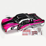 Traxxas Slash PINK body with extra decals & clips!
