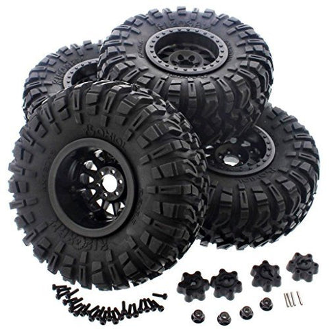 AXIAL 1/10 WRAITH SPAWN RIPSAW TIRES,METHOD IFD WHEELS AND HUB ADAPTERS THE BEST TIRES AXIAL PROVIDES FOR YOUR CRAWLERS by AXIAL