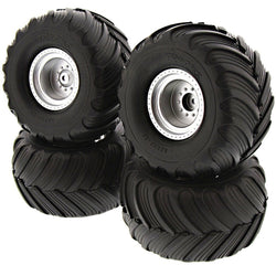 Traxxas 1/10 Skully 2WD Front & Rear Tires & Wheels 3665 ( 4 TIRES)