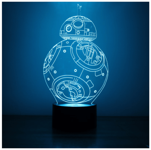Lampara Efecto 3D Led - Star Wars BB8
