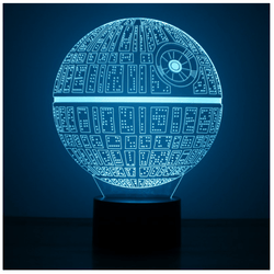 Lampara Efecto 3D Led - Star Wars Death Star