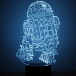 Lampara Efecto 3D Led - Star Wars R2D2