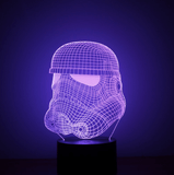 Lampara Efecto 3D Led - Star Wars Storm Trooper